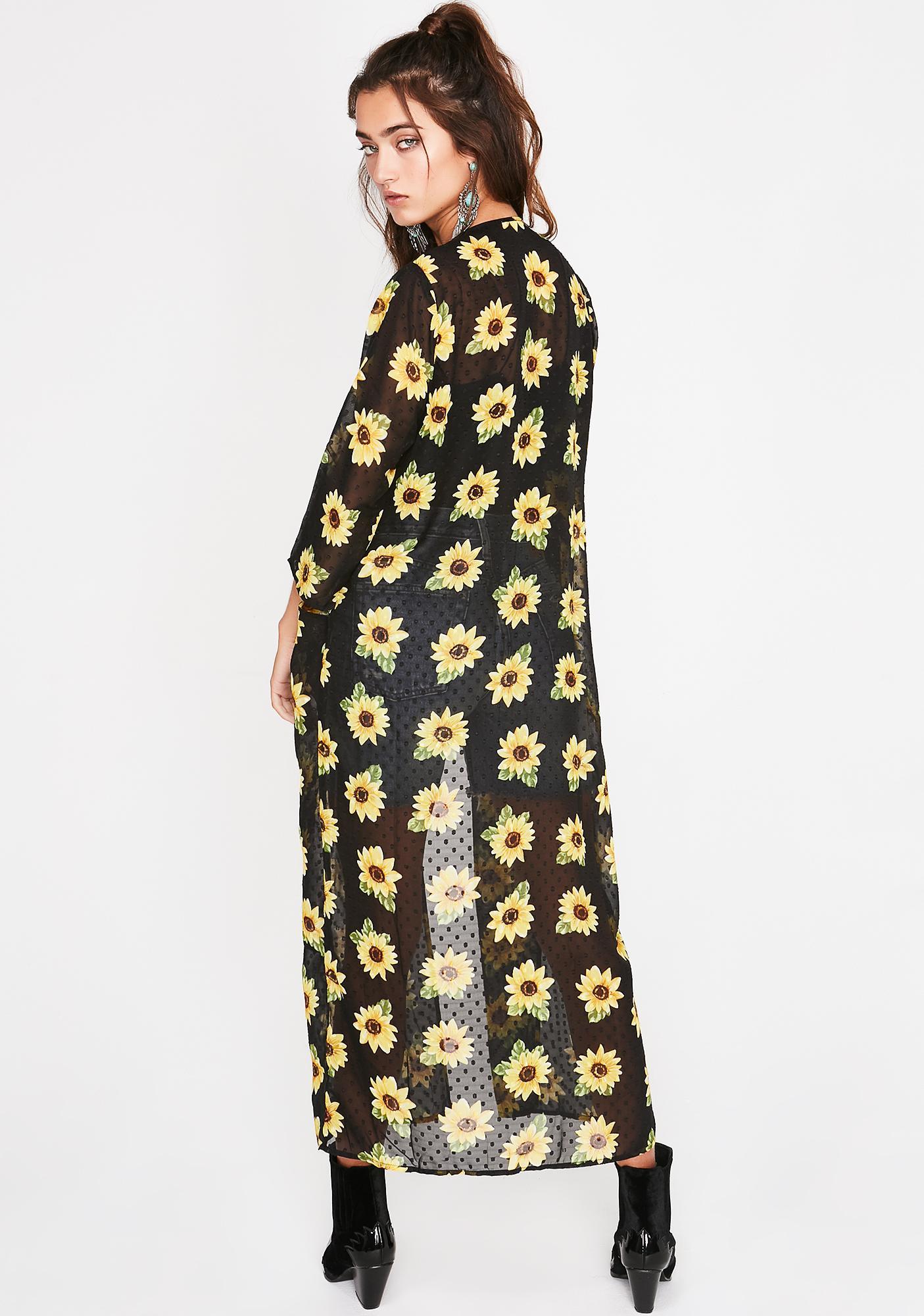 Sassy Sunflower Kimono