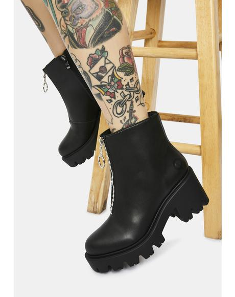 Gemma Vegan Leather Ankle Boots