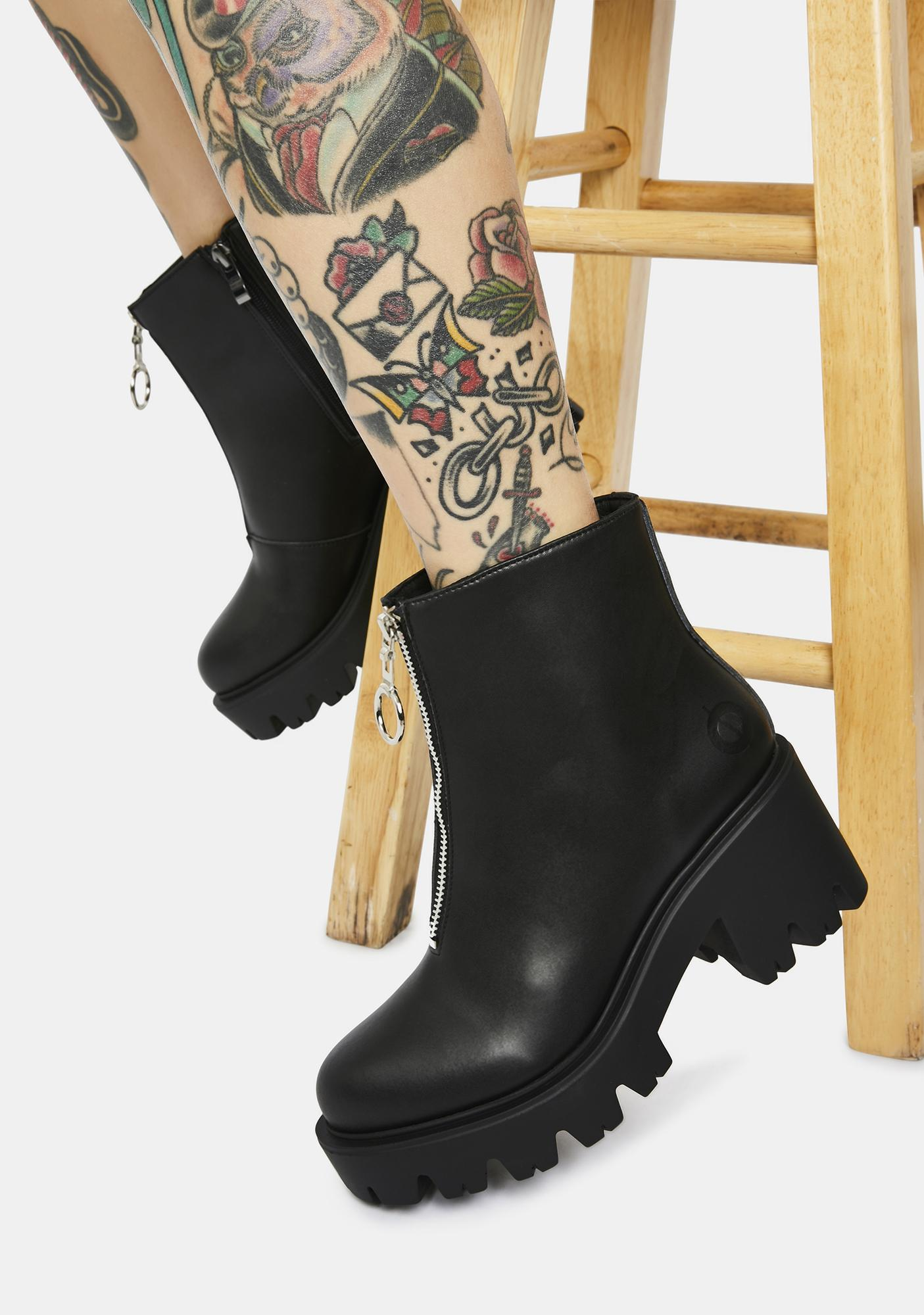 Altercore Gemma Vegan Leather Ankle Boots