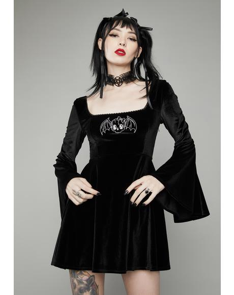Burial Ground Velvet Mini Dress