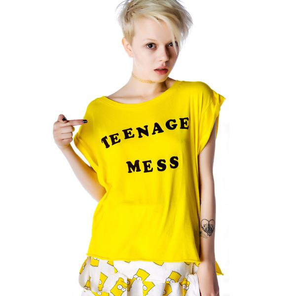 Wildfox Couture Teenage Mess Jagged Edge T