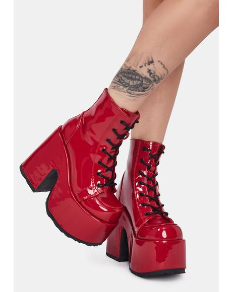 Hot Rave Royalty Platform Boots