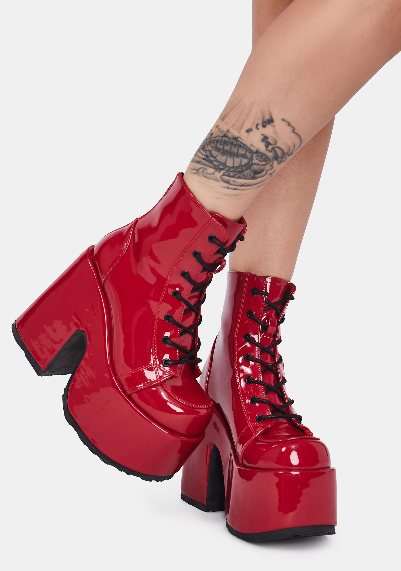Demonia Hot Rave Royalty Platform Boots