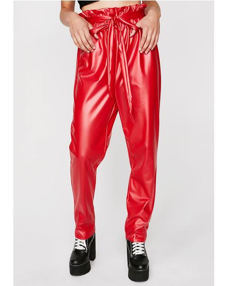 Hot Drink Me Up Vinyl Trousers
