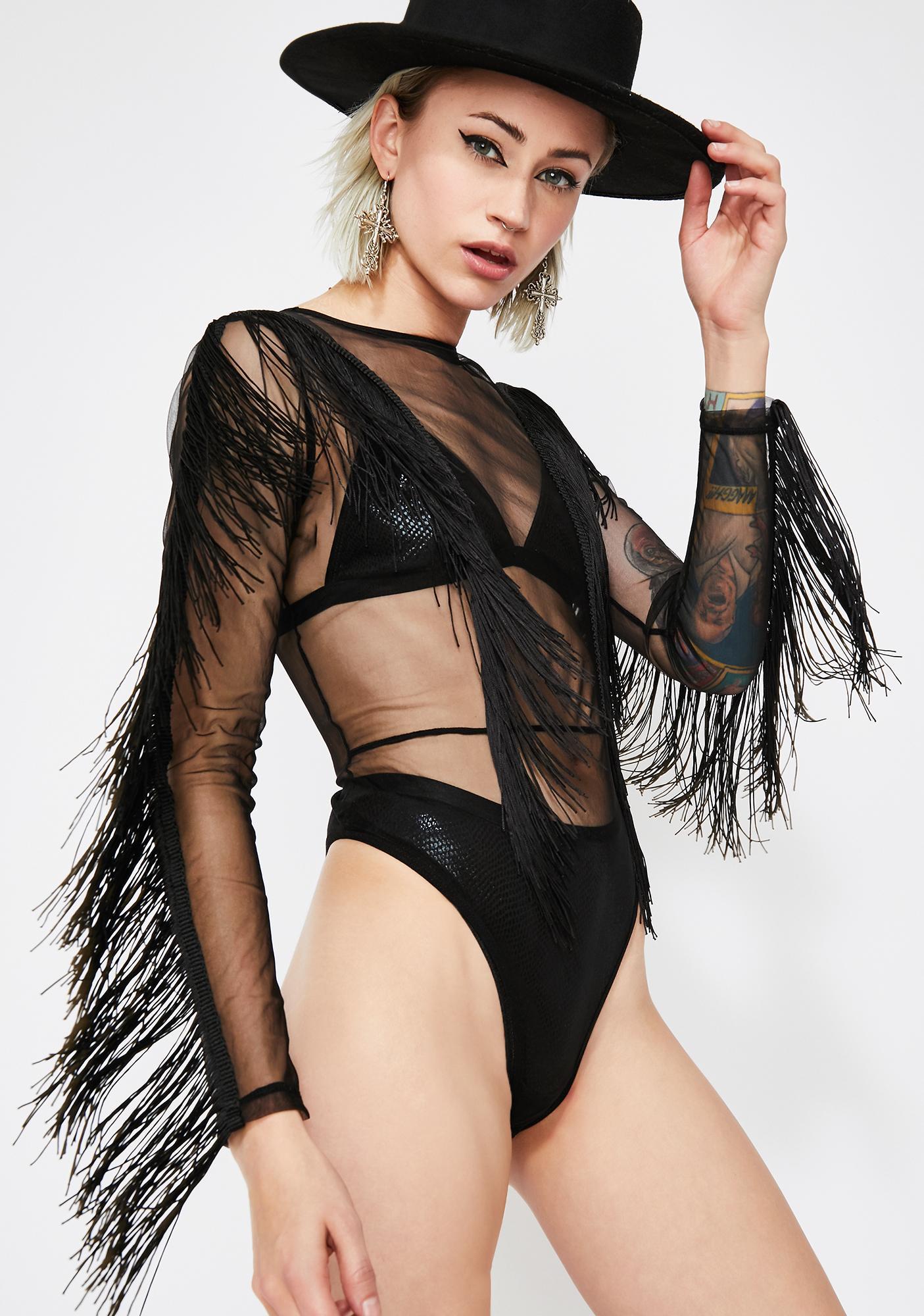 Grand Attraction Fringe Bodysuit