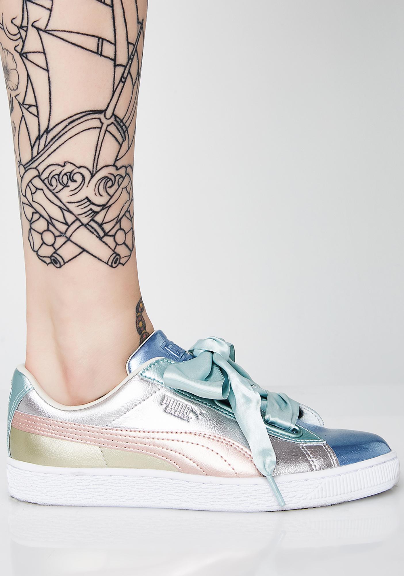 PUMA Basket Heart Bauble Sneakers