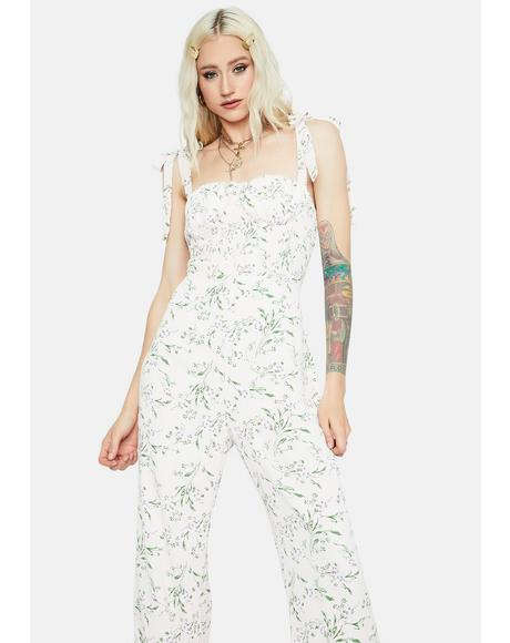 Fresh Air Floral Smocked Jumpsuit
