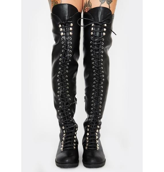 Ready To Rock Lace Up Boots