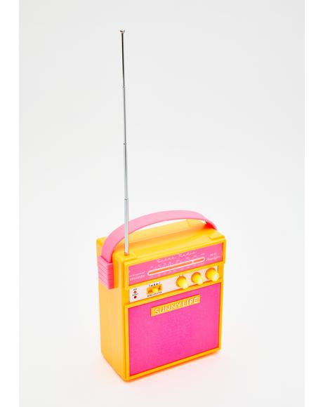 Malibu Bass Boom Portable Radio