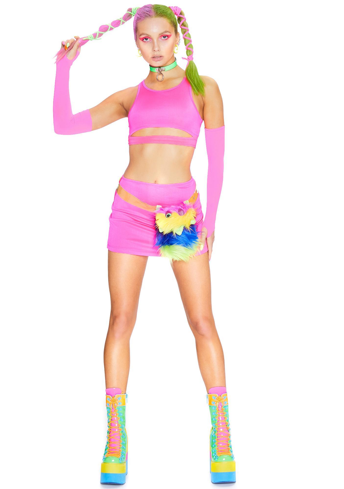 Club Exx Pixie Flash Delirium Skirt Set