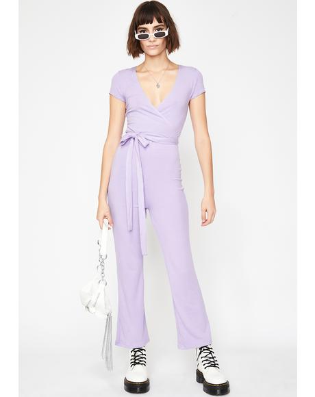 Lilac Posh Moment Knit Jumpsuit