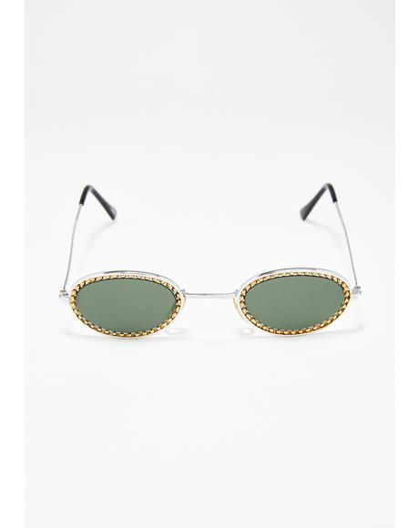 Hipster Glam Studded Sunglasses