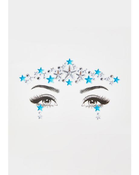 Blue Stardust Face Gems