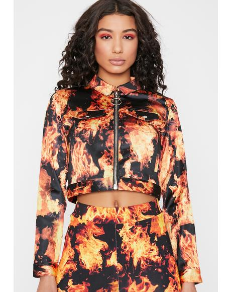 Feel The Burn Cropped Jacket