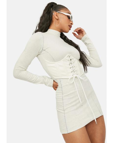 Bliss In Any Event Mock Neck Bustier Dress