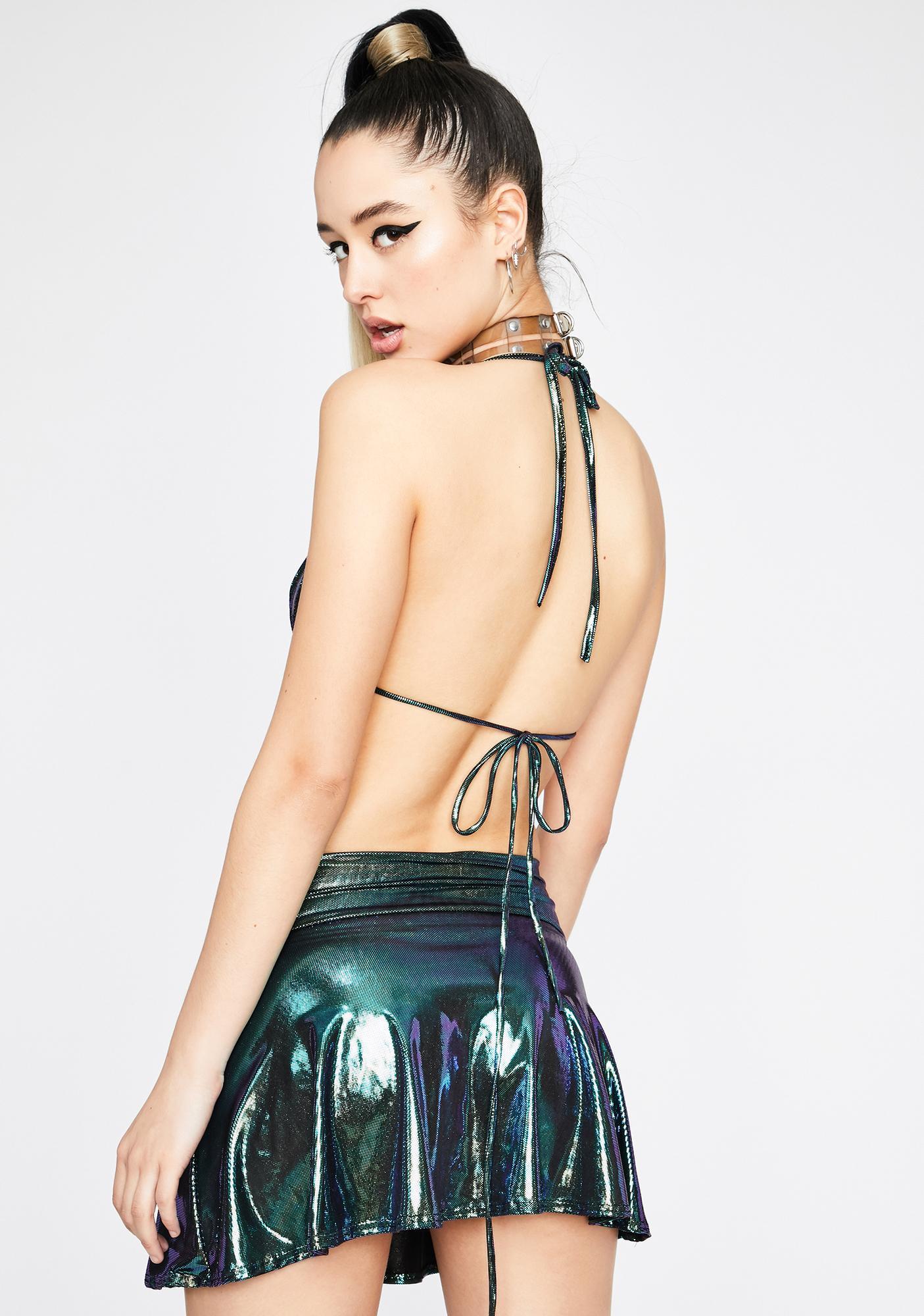 Dank Intergalactic Bae Skirt Set