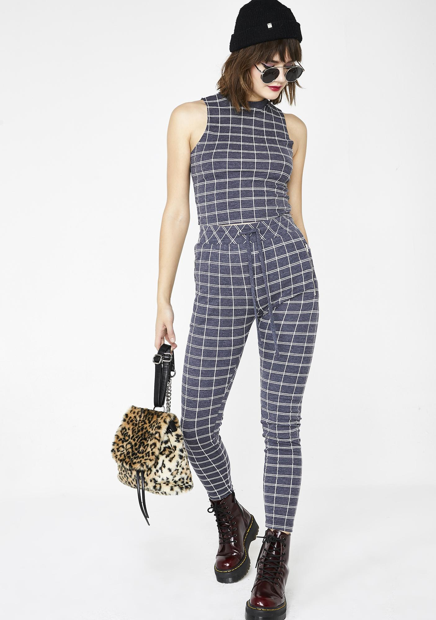 Wildfox Couture Simple Plaid Fountain Crop Top