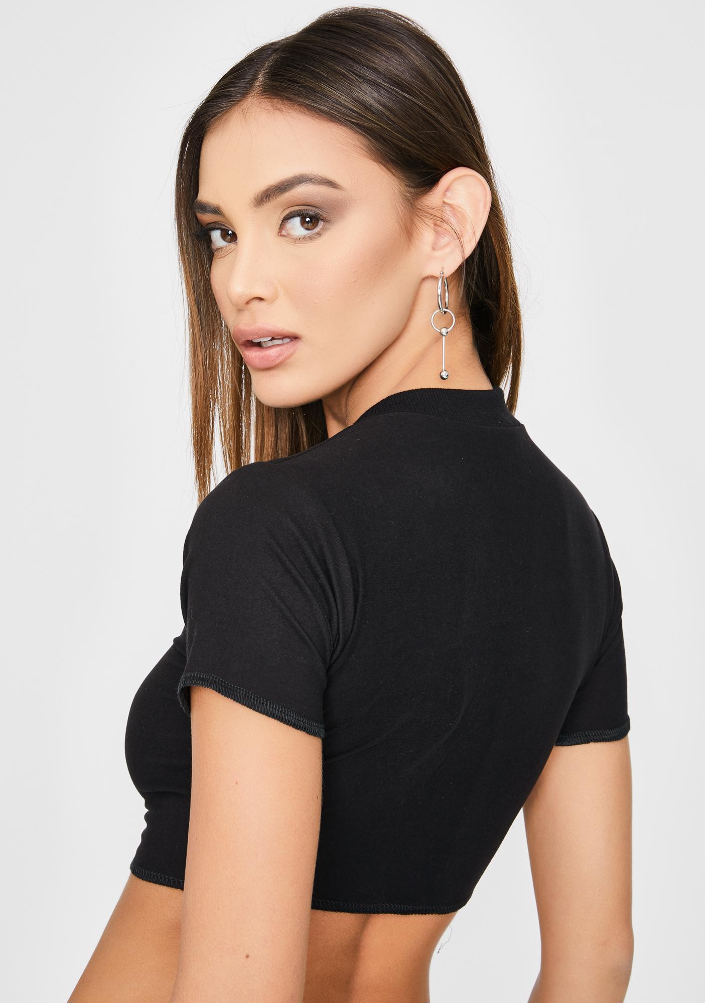 Riccetti Clothing Chain Pierced Crop Top