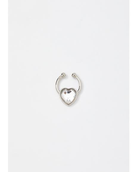 Crystal Heart Septum Ring
