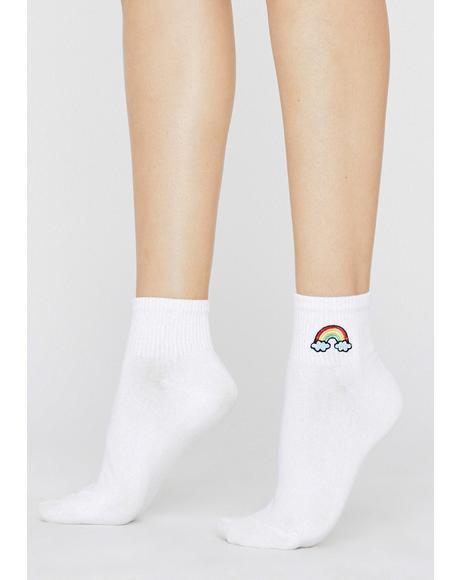 Find The Rainbow Ankle Socks