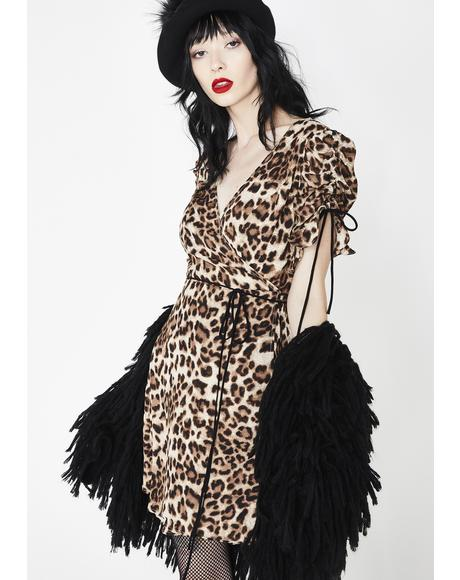 Pinup Doll Leopard Dress