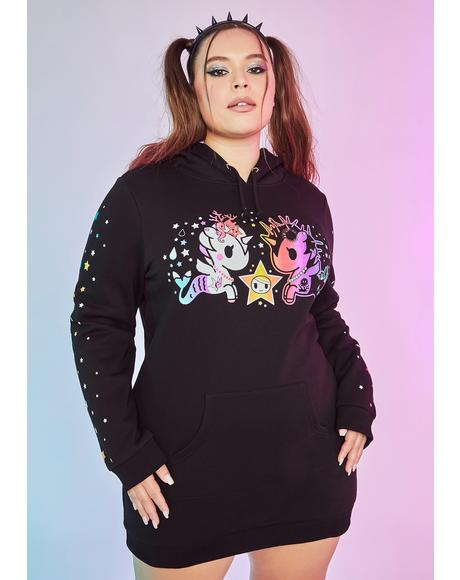 Magic Starfish Wishes Oversized Hoodie