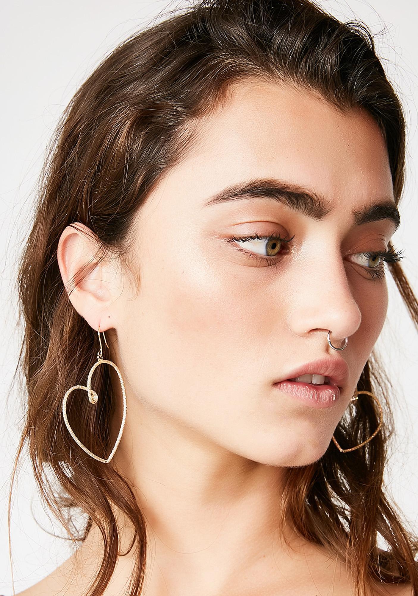 Tough Love Heart Earrings