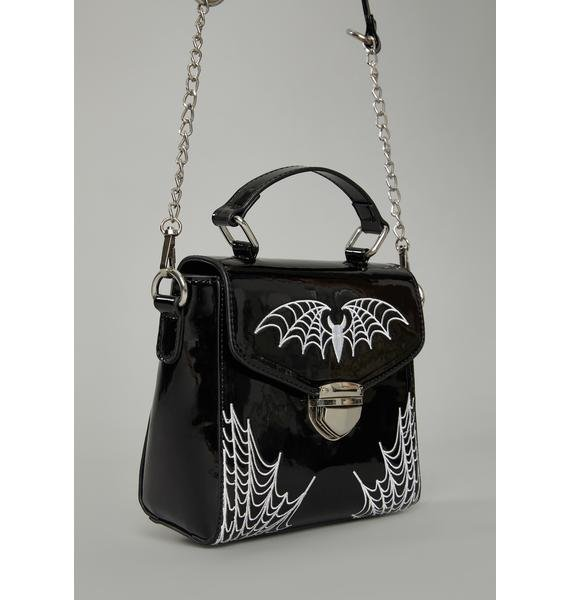 Widow Onyx Bittersweet Spider Bites Crossbody Purse