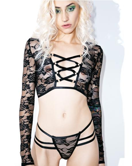Crossed Wires Lingerie Set