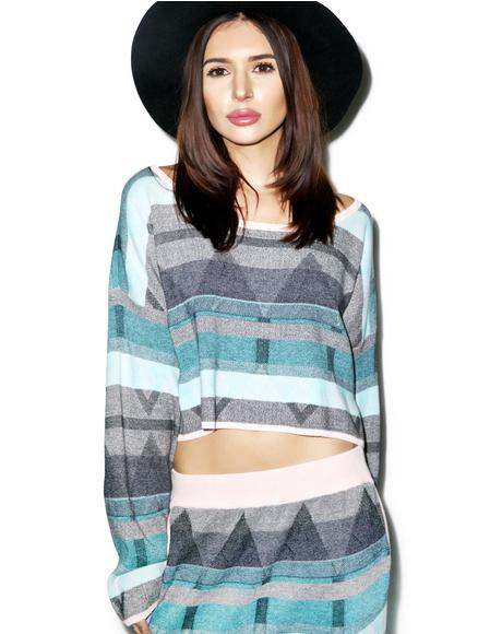 The Silence Cropped Sweater