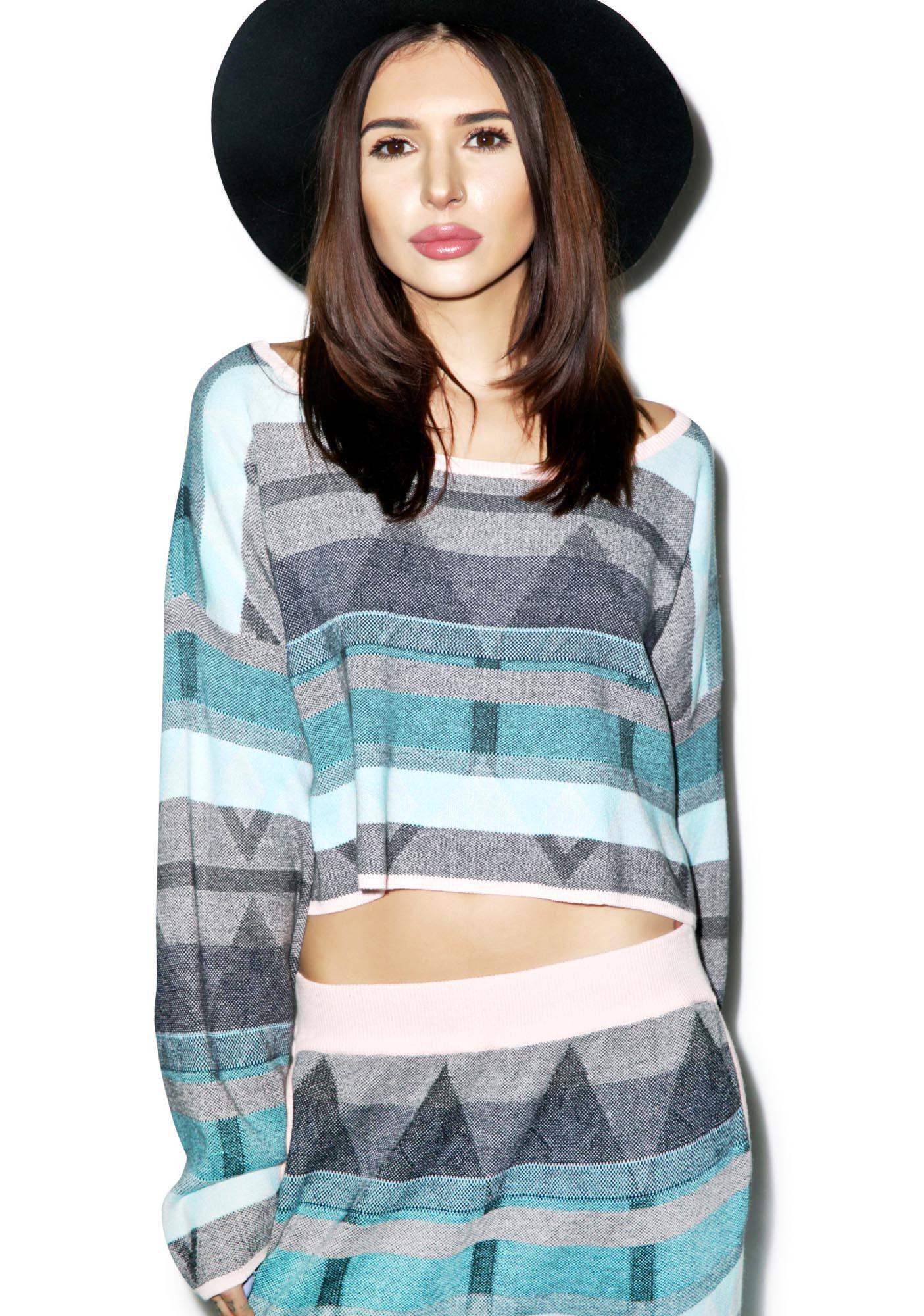 Somedays Lovin The Silence Cropped Sweater