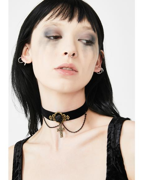 Religion Of Darkness Cross Choker