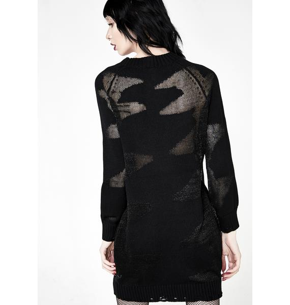 Disturbia Phantom Sweater Dress