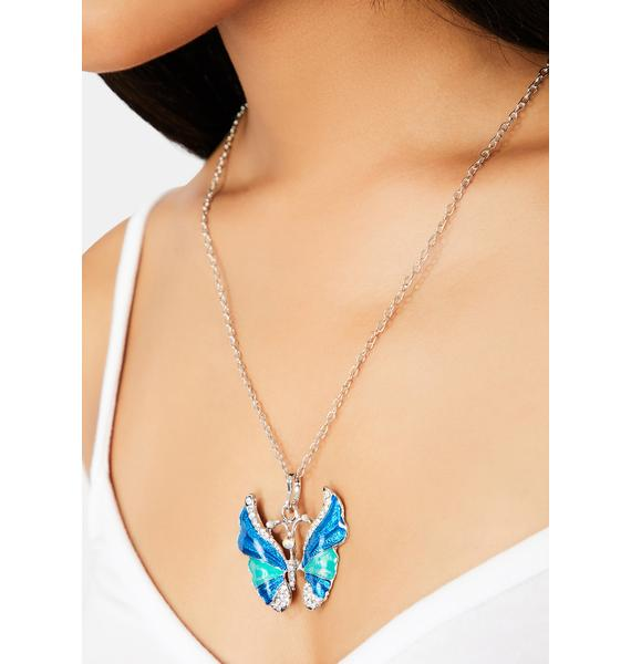 Time For Change Butterfly Necklace