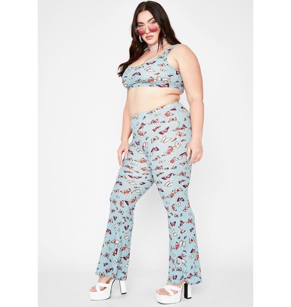 Sky Miss Sugar High Butterfly Pant Set