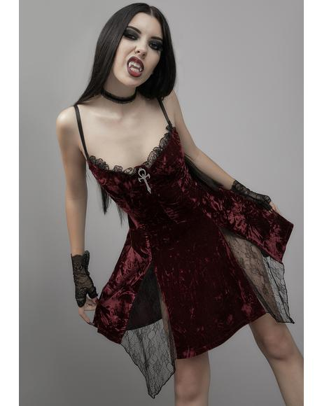 Killer In Me Velvet Mini Dress