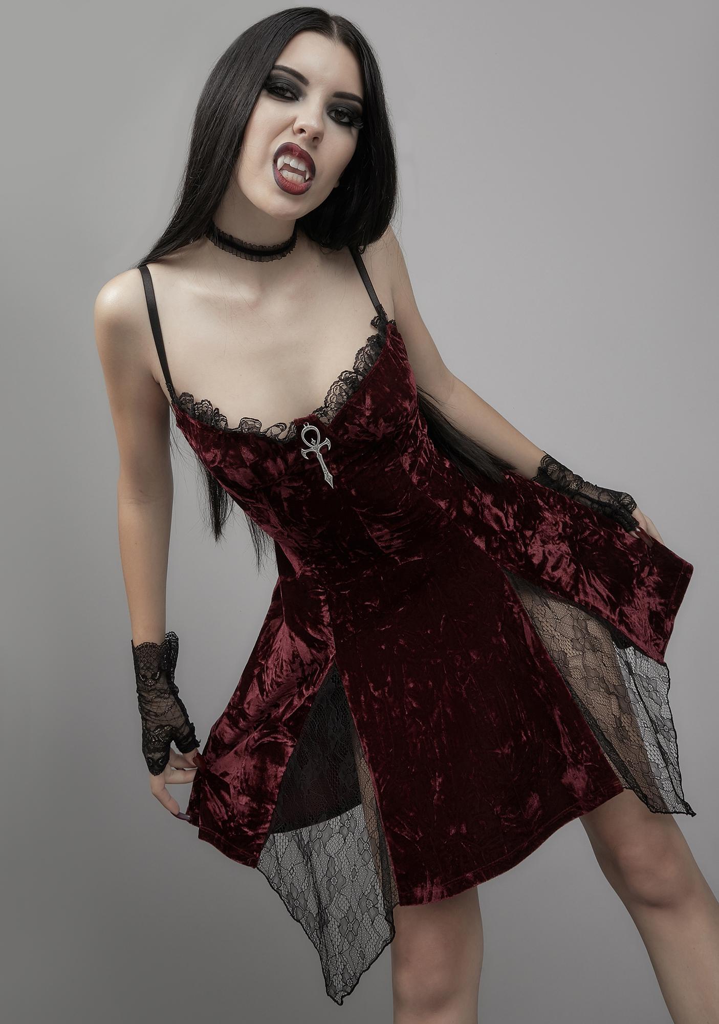 Widow Killer In Me Velvet Mini Dress