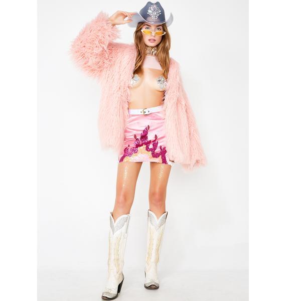 J Valentine Twilight Sparkle Faux Fur Coat