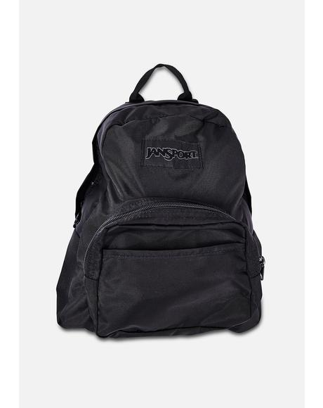 Black Mono Half Pint Mini Backpack