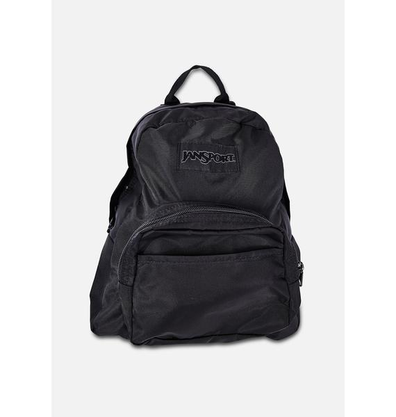 JanSport Black Mono Half Pint Mini Backpack