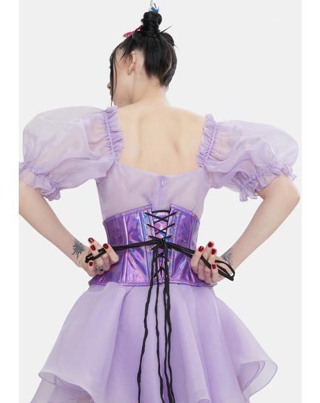 Purple Iridescent Waist Cincher