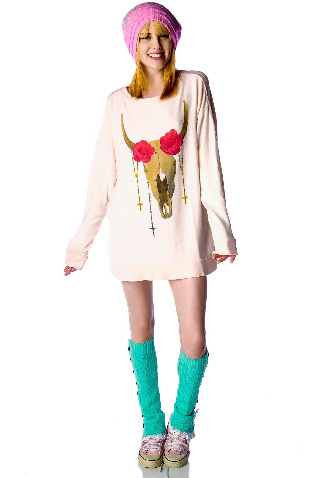 Wildfox Couture Desert Rose Roadtrip Sweater Dress