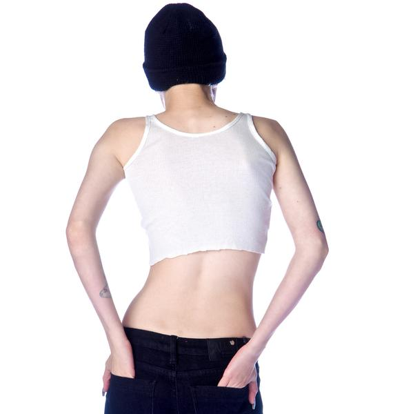 Trash Wifebeater Crop Tank