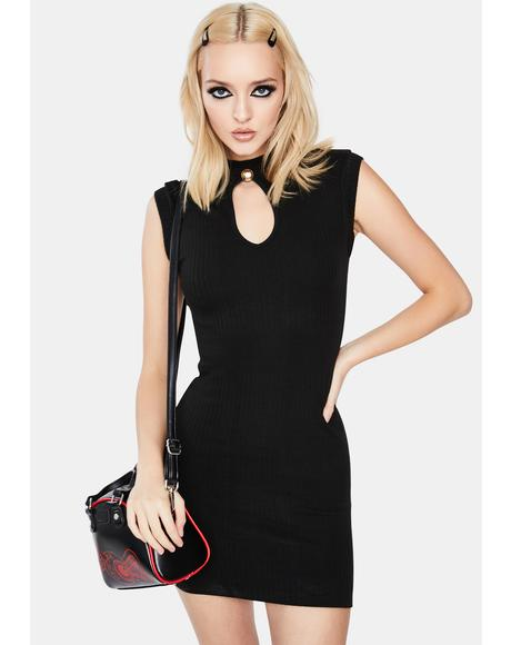 Sleeveless Camisole Black Mini Dress