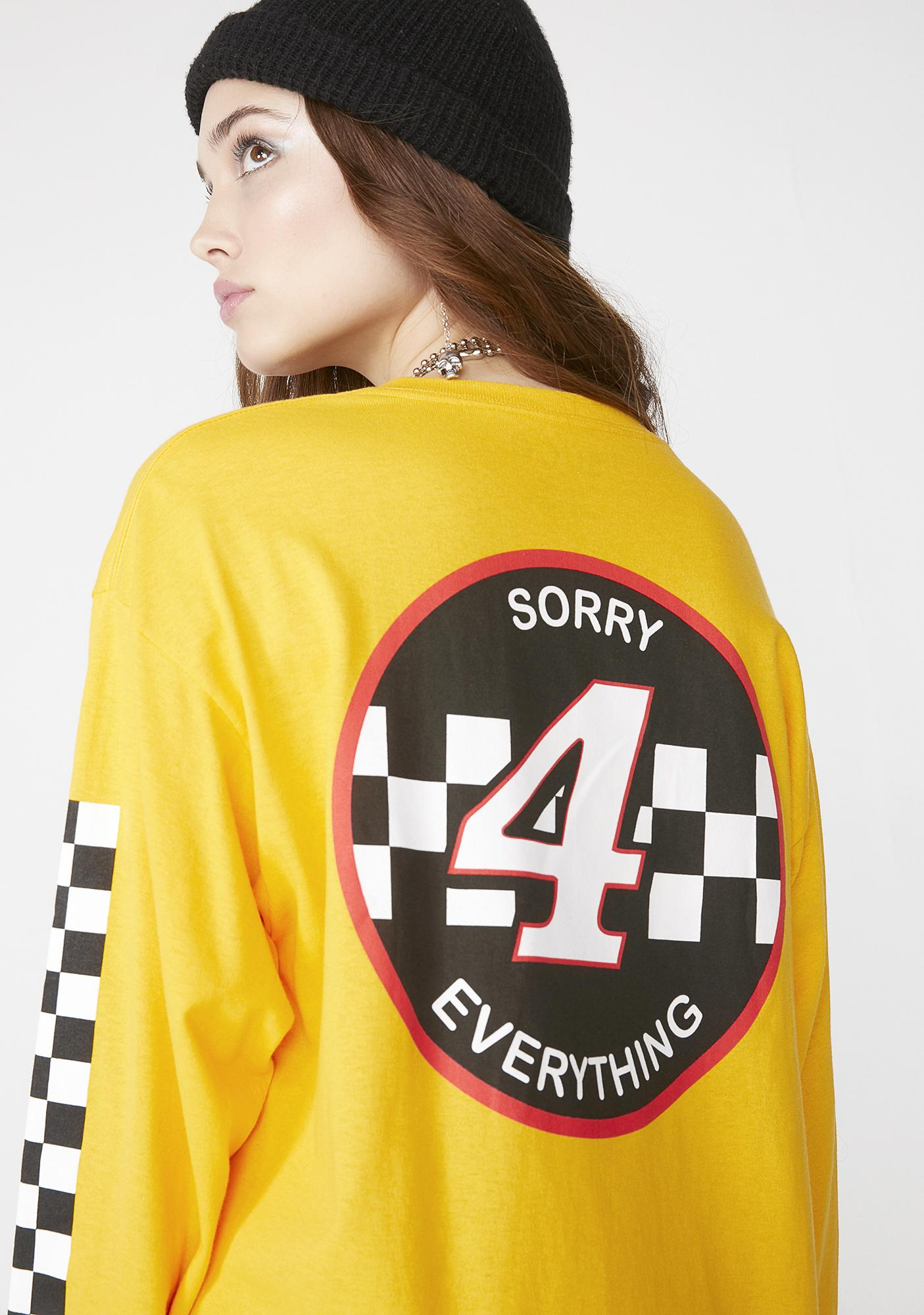 SUCC INTERNATIONAL Sorry 4 Everything Long Sleeve Tee