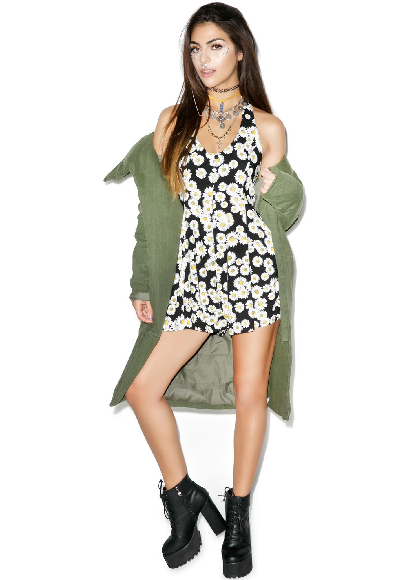Motel Moonlit Daisy Playsuit