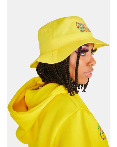 Yellow Fuck Clothes Bucket Hat