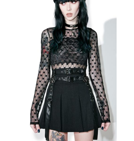 Killstar Light The Fire Mini Skirt