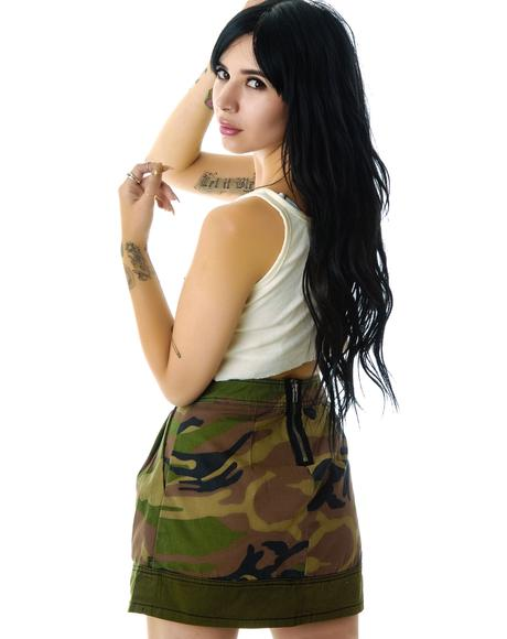 Camouflage Army Skirt