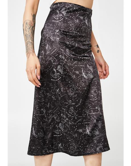Constellation Midi Skirt
